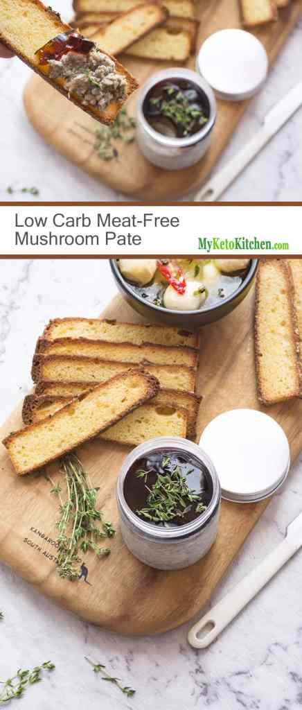 Low Carb Meat-Free Mushroom Pate [Vegetarian, Gluten Free, Keto]