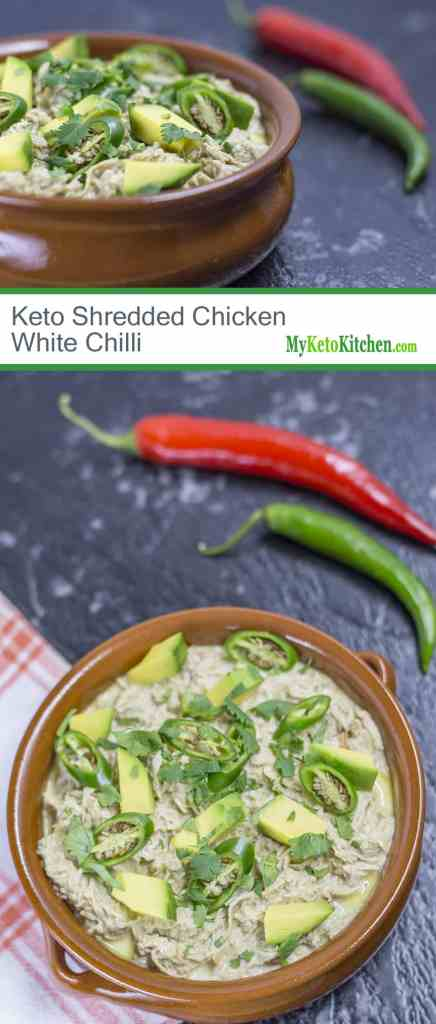 Low Carb Mexican Shredded Chicken - Keto White Chili