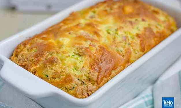 Keto Zucchini Bread Recipe – Bacon & Cheese – Gluten FREE
