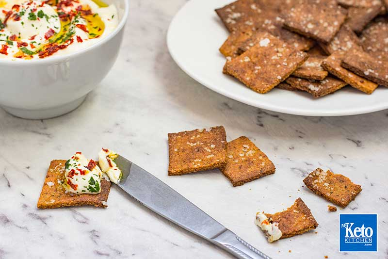 Gluten Free Crackers Recipe – Low Carb Savory – 100% Keto EASY!