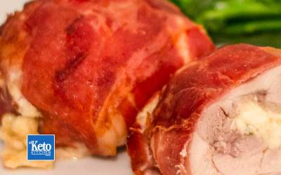 Keto Chicken Thighs Recipe – Wrapped & Stuffed with 3 Cheeses