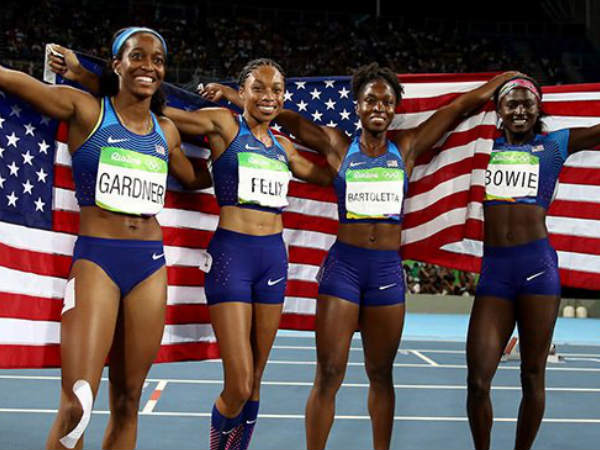 Rio Olympics 2016: USA clinches women's 4x100m relay gold ...