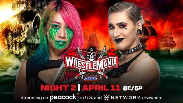 NIGHT TWO – SUNDAY, APRIL 11 - RAW Women's Title Match: Rhea Ripley vs. Asuka (c)