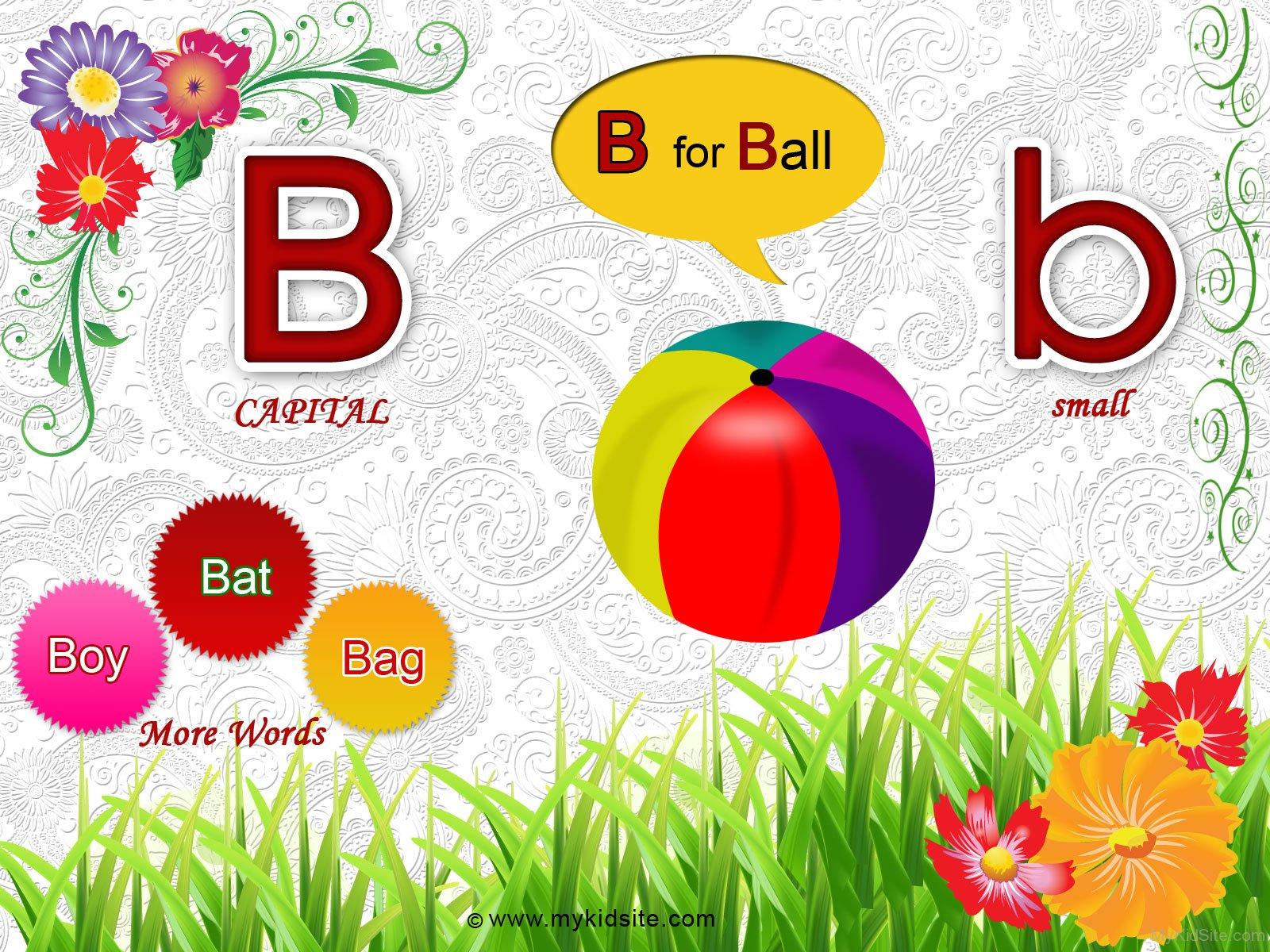 Alphabet Worksheet For Letter B