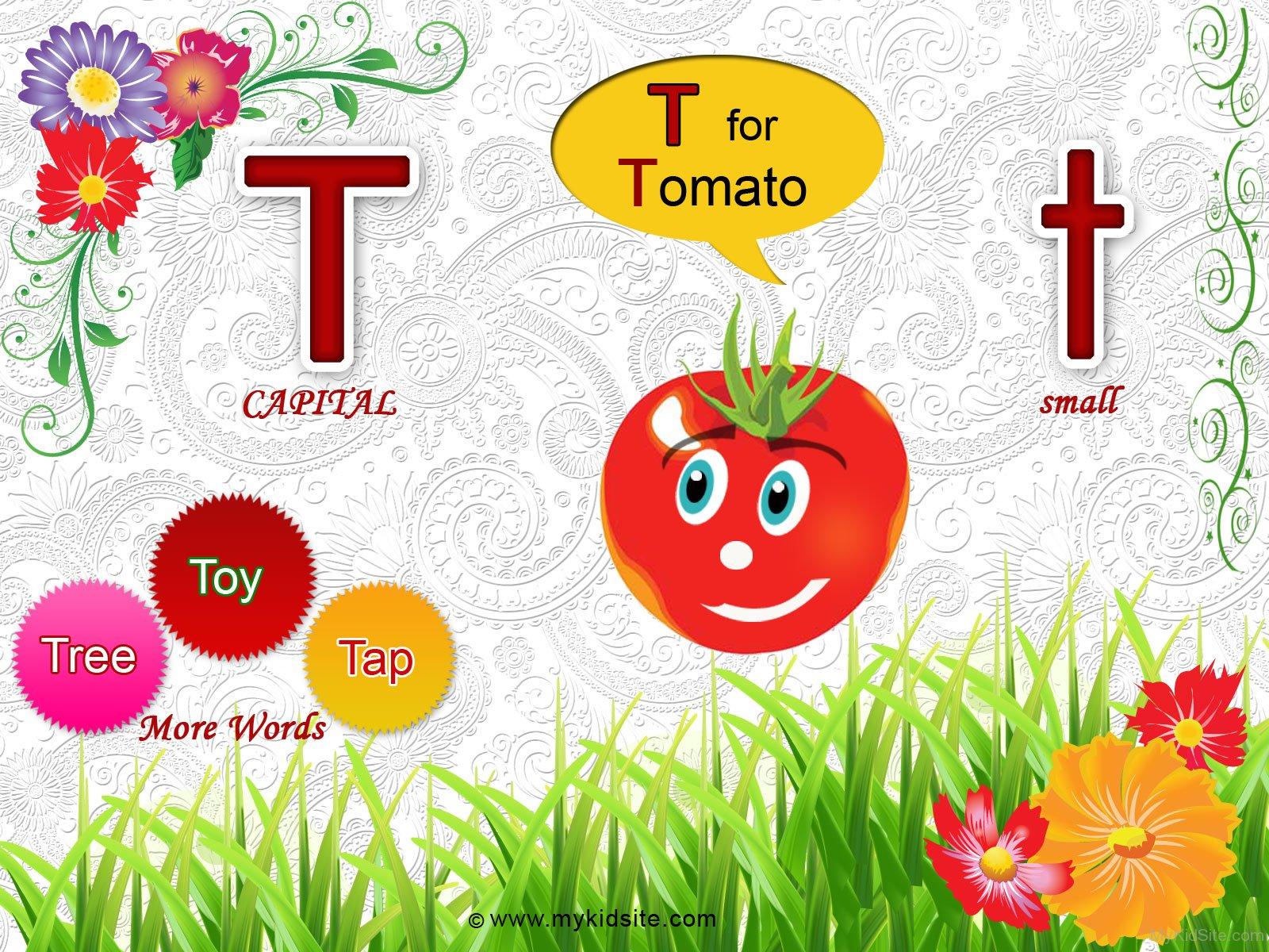 Alphabet Worksheet For Letter T