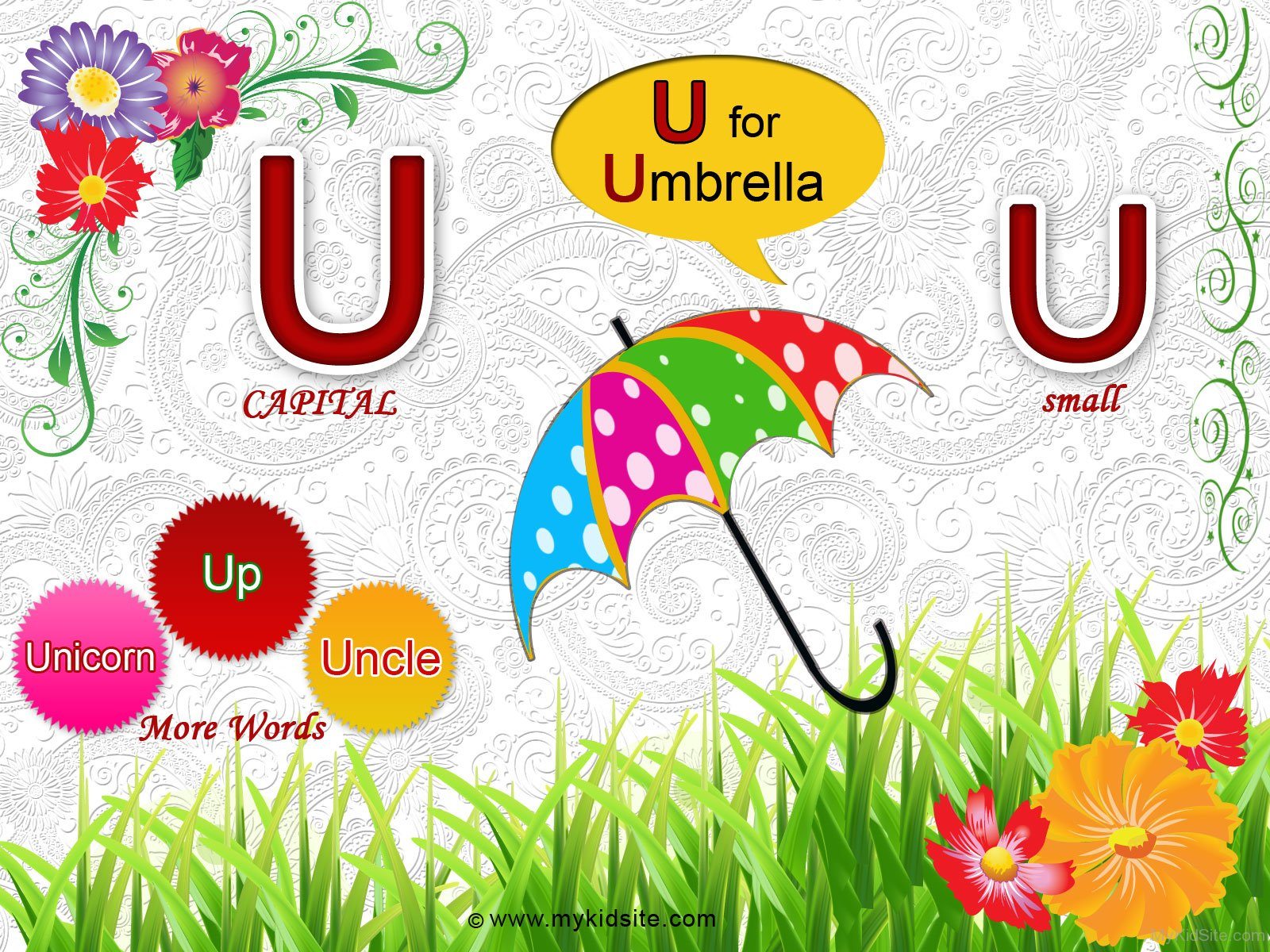 Alphabet Worksheet For Letter U