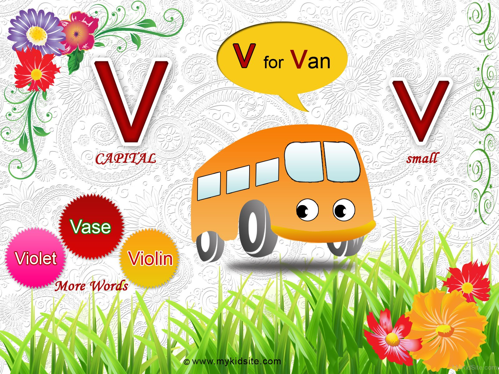 Alphabet Worksheet For Letter V