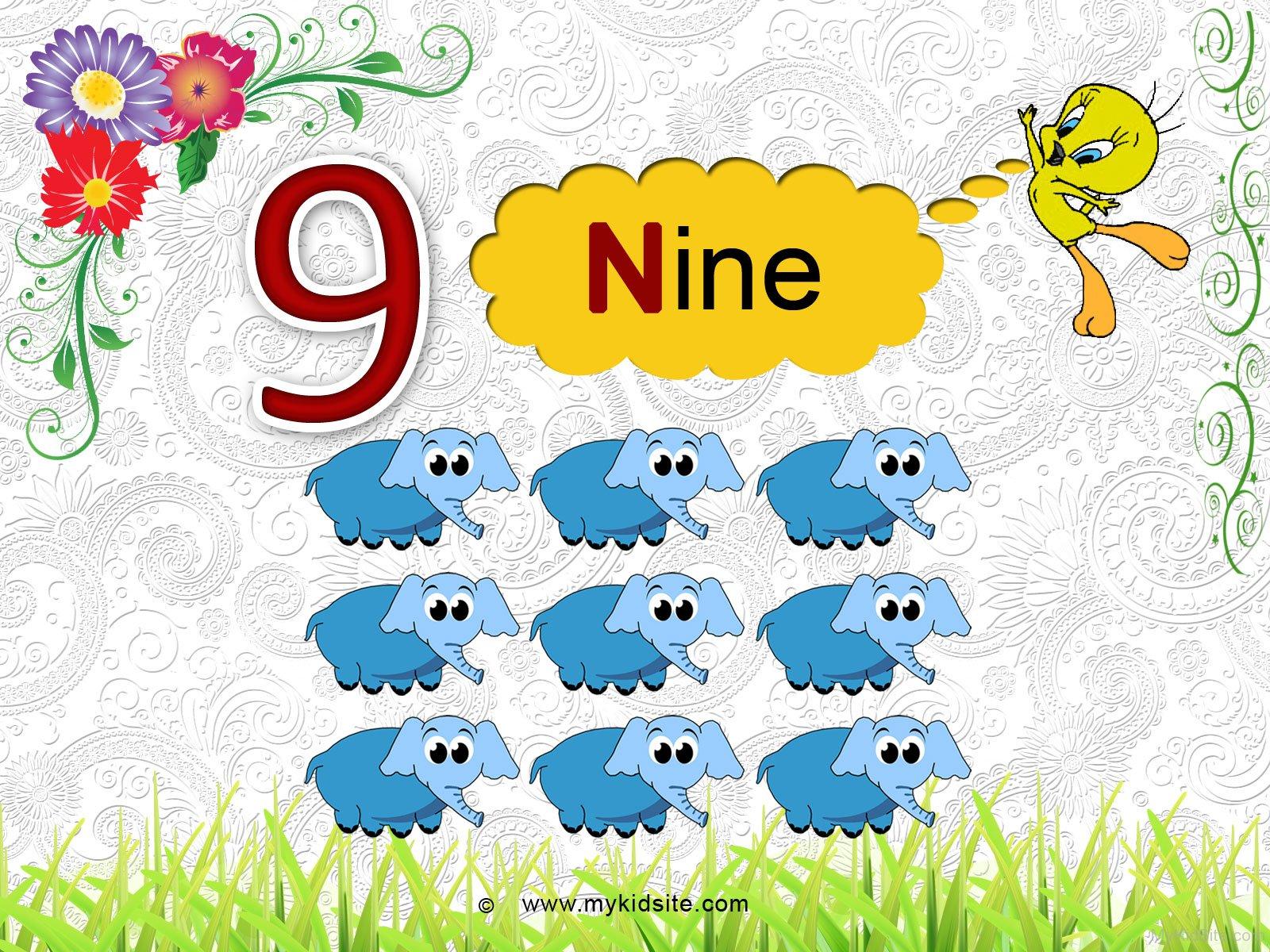 Number Worksheet For 9