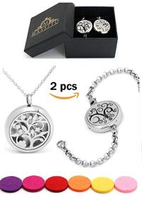 My kind of Zen - Tree of Life Aromatherapy Essential Oils Diffuser Necklace and Bracelet for Women