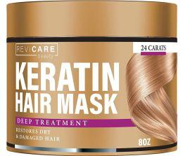 Keratin Hair Mask - Restores Dry & Damaged Hair - Effective Keratin Treatment with Coconut Oil, Retinol & Aloe Vera