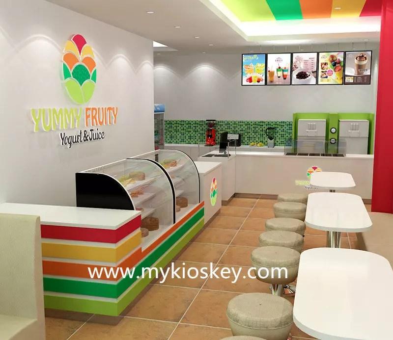 Factory Custom Made Ice Cream Shop Decoration And Ice
