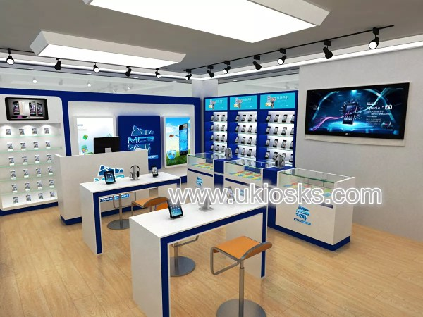 Wood mobile phone shop decoration and mobile phone shop ...