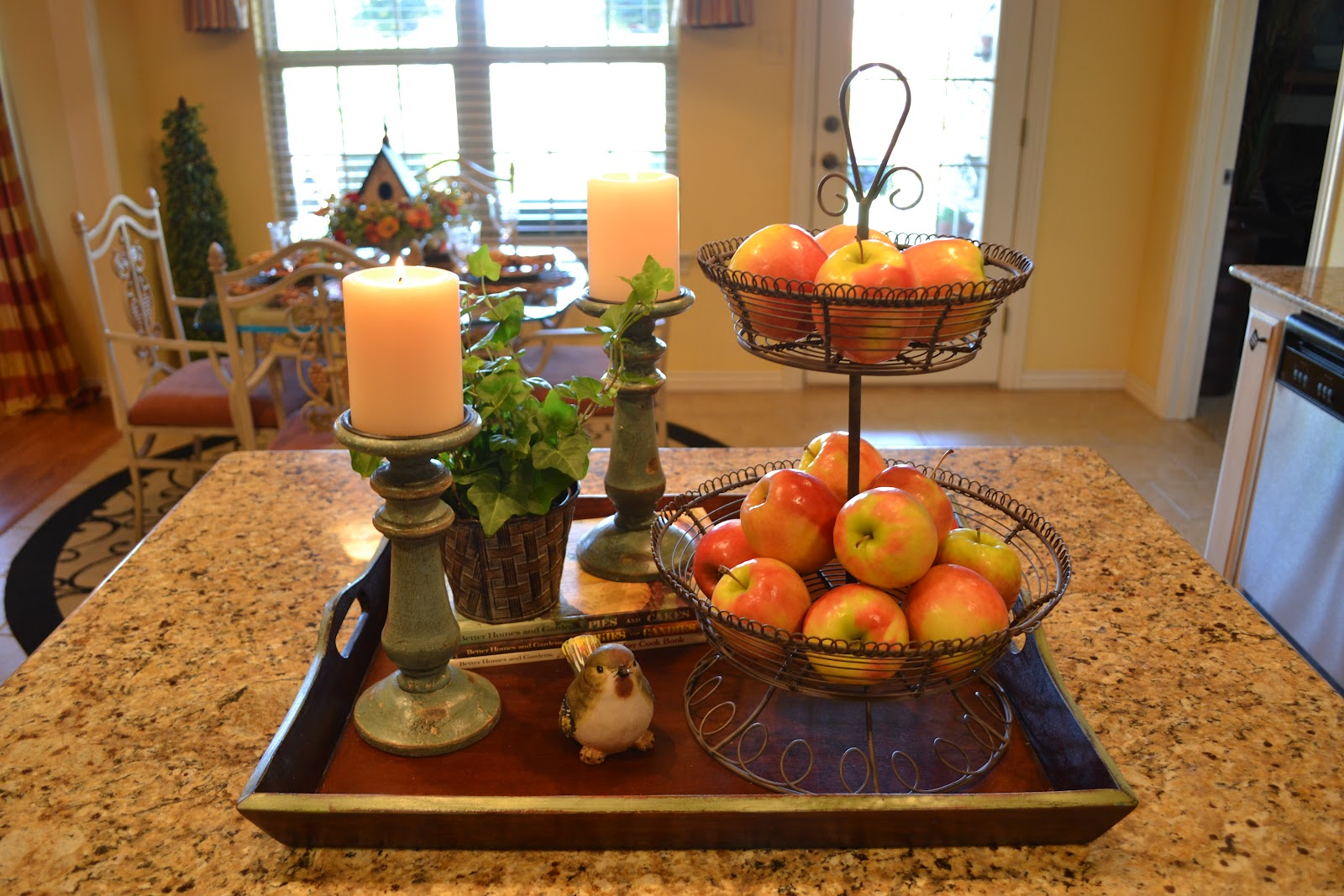 Fabulous Kitchen Table Centerpieces Presented With Bright