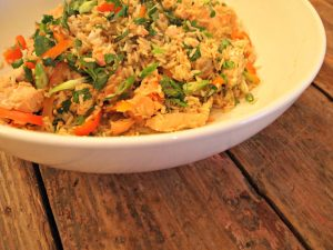 Steamed Salmon with Lemongrass Pilaf
