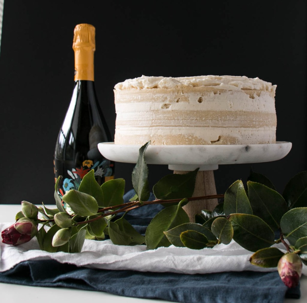 Champagne and Vanilla Bean Cake | My Kitchen Love