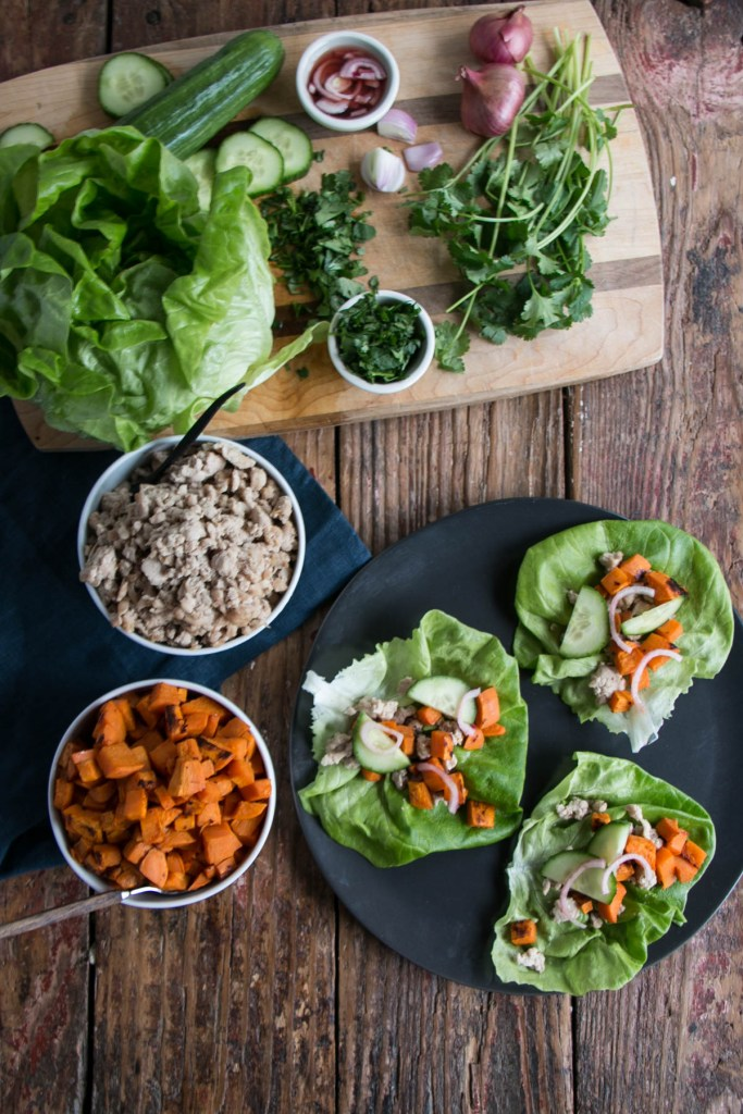 Thai Sweet Potato Lettuce Wraps | My Kitchen Love