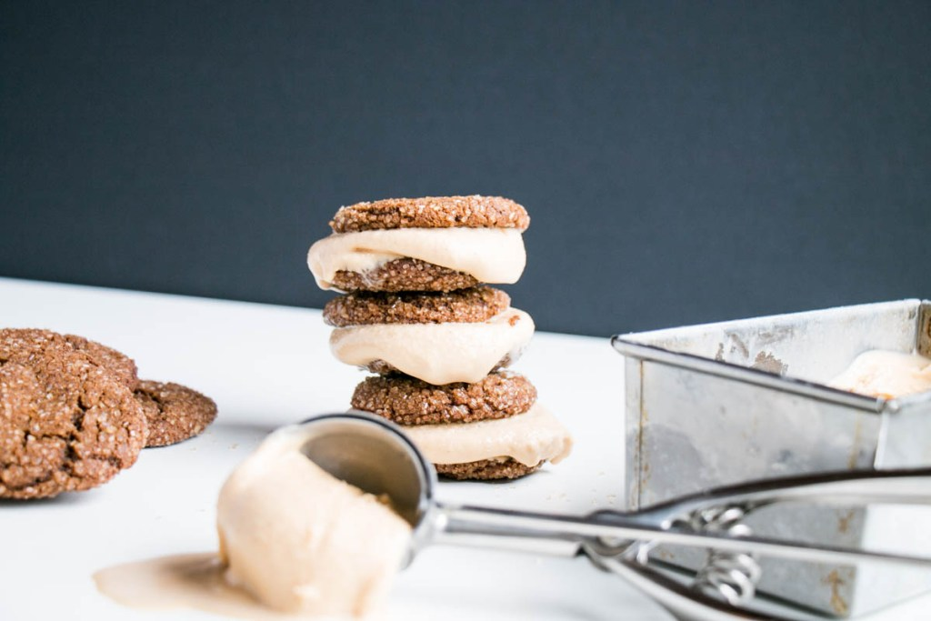 Ginger Molasses Cookies Brown Sugar Bourbon Ice Cream Sandwiches | My ...