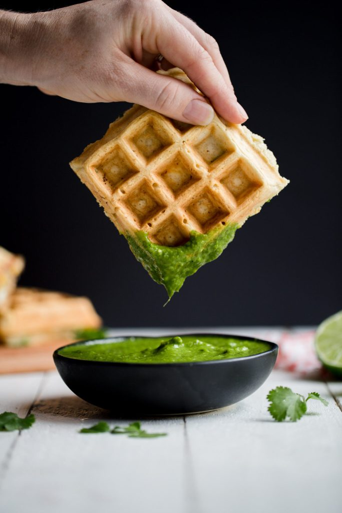 Mexican Waffles with Salsa Verde | My Kitchen Love