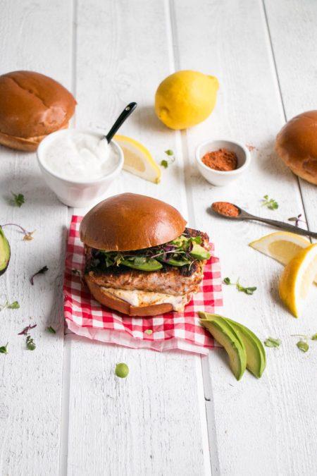 Blackened Halibut Burger