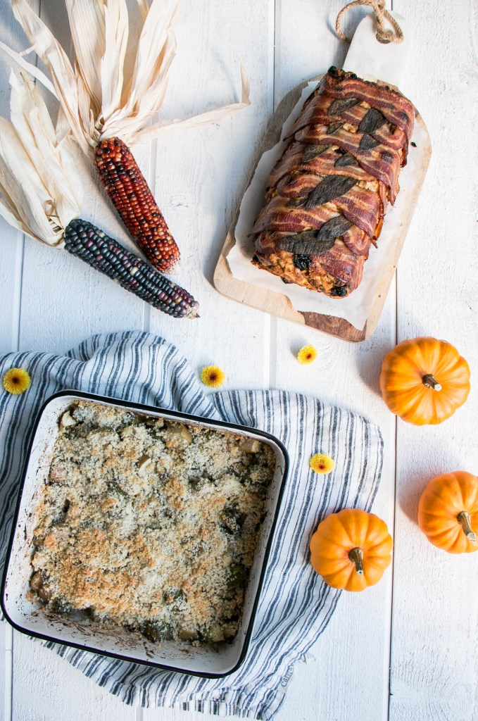 Essential Thanksgiving Side Dishes – Brussels Sprouts Au Gratin & Currants and Sausage Stuffing