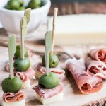 Manchego Cheese, Ham and Olive Bites