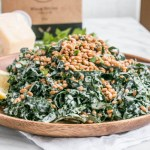 Kale Caesar Salad with Toasted Wheat Berries