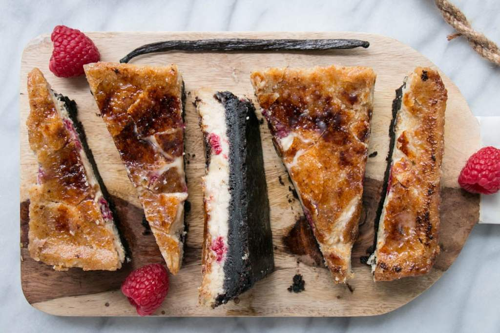 Black Bottom Raspberry Vanilla Crème Brûlée for 2 | My Kitchen Love