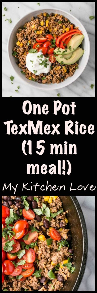 One Pot Tex-Mex Rice | My Kitchen Love #WeekdayWin