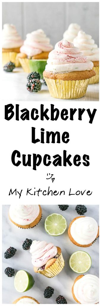 Blackberry Lime Cupcakes | My Kitchen Love