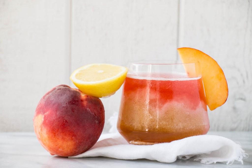 Spiked Peach Iced Tea