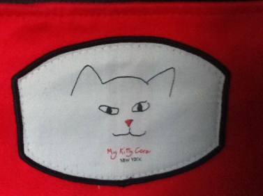 red my kitty care iPhone wristlet