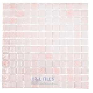 nieblas recycled glass tile mesh backed sheet in fog pink vidrepur