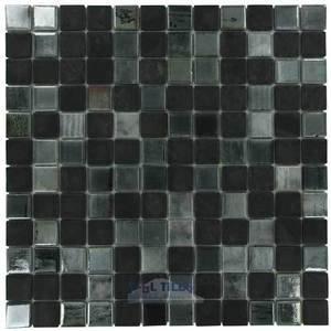 mixes recycled glass tile mesh backed sheet in black diamond vidrepur