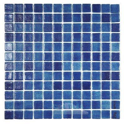 anti slip recycled glass tile mesh backed sheet in fog navy blue slip resistant vidrepur