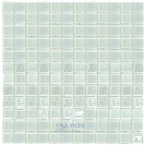 titanium recycled glass tile mesh backed sheet in snow white iridescent vidrepur