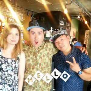 With Sam Hammington