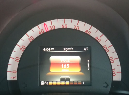 New Smart forfour speedo
