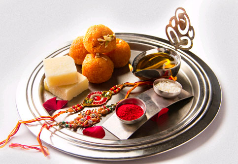 Read about the significance of rituals and decorating plate in Raksha Bandhan