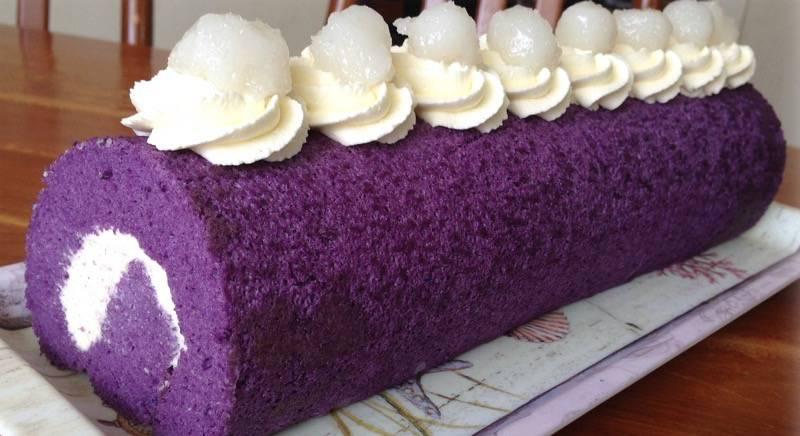 Ube Macapuno Cake Roll Recipe
