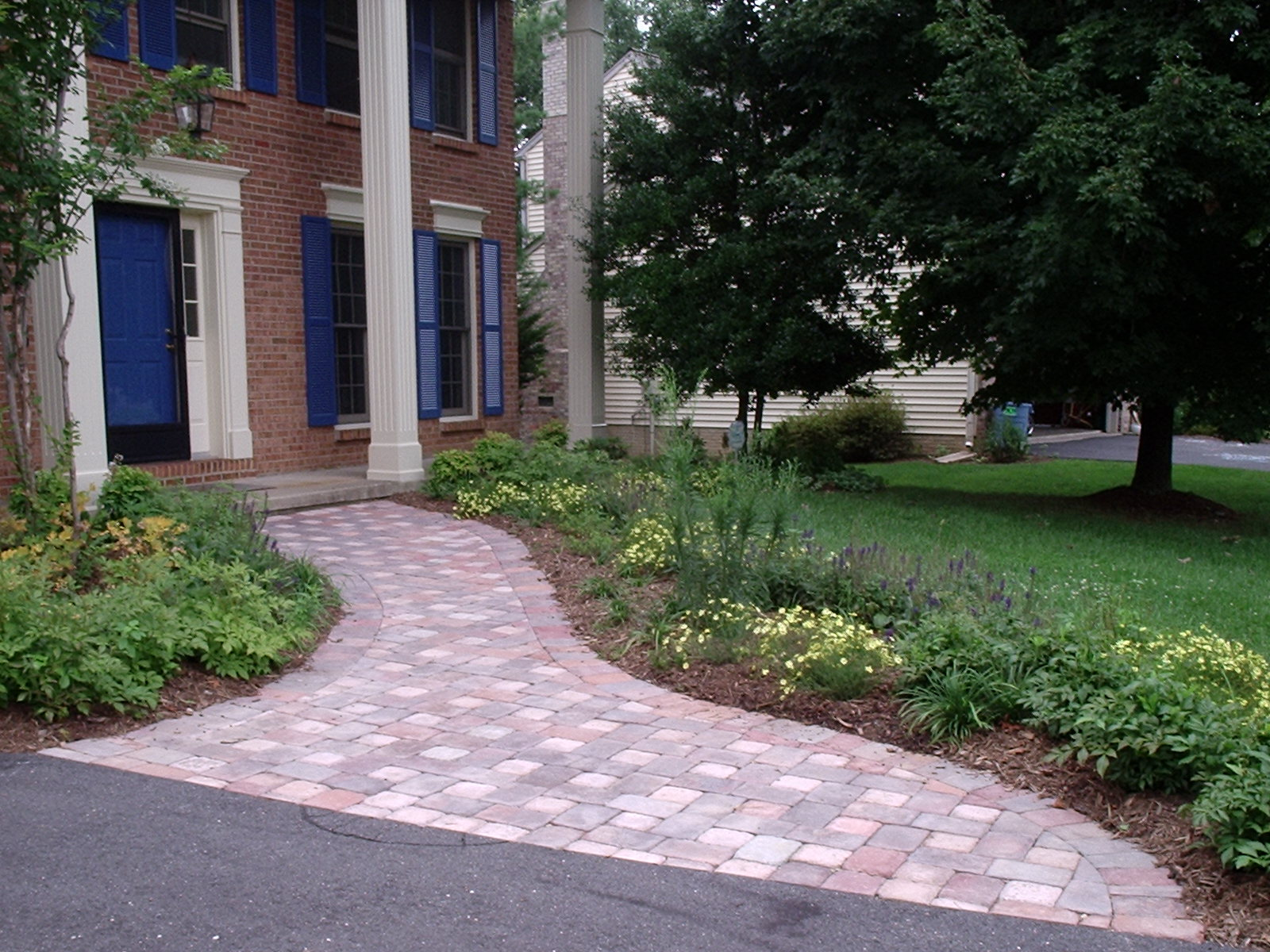 Photo of paver walkway