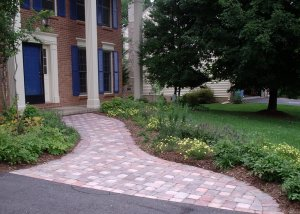 Photo of paver walkway