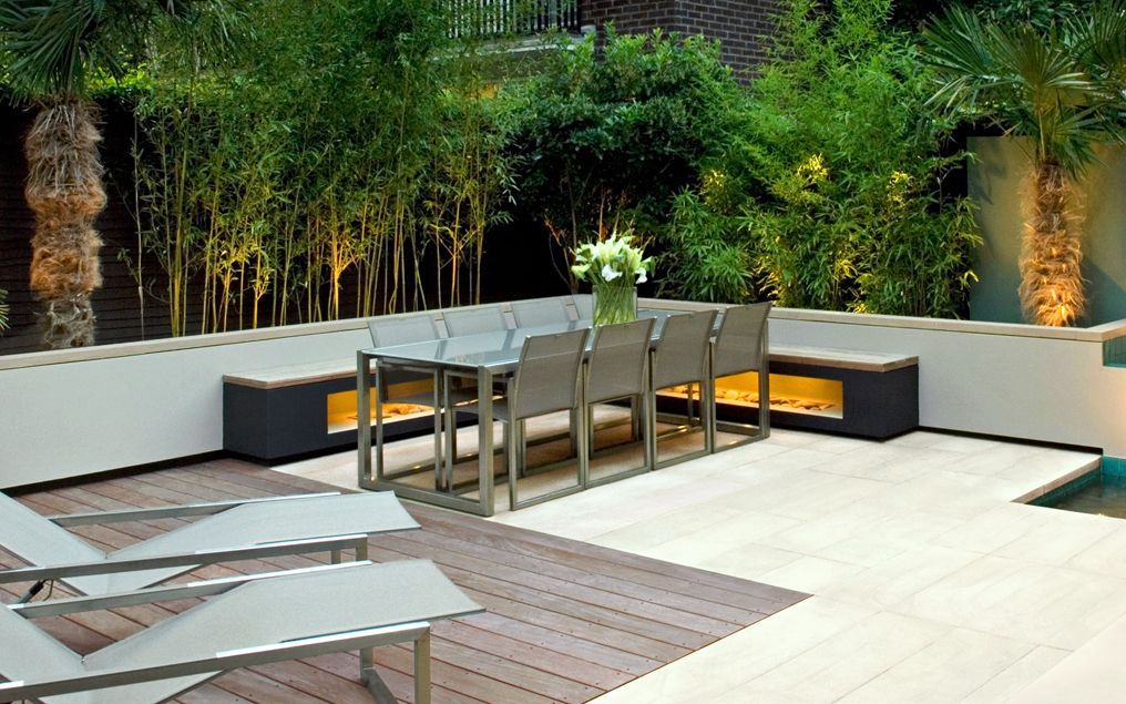 Modern outdoor seating | Mylandscapes contemporary garden ... on Backyard Patio Layout id=98123
