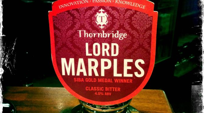 Lord Marples - Thornbridge Brewery