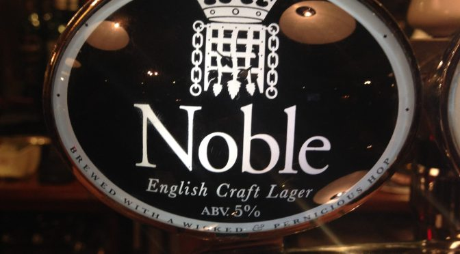 English Craft Lager - Noble (Greene King) Brewery