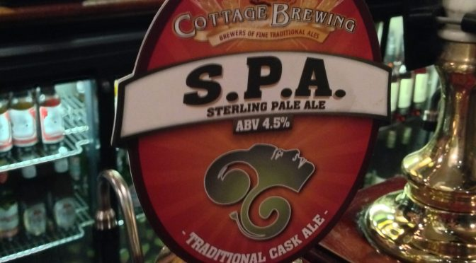 Sterling Pale Ale (SPA) - Cottage Brewery