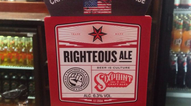 Righteous Ale - Sixpoint (Adnams) Brewery