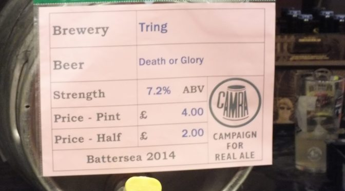 Death or Glory – Tring Brewery