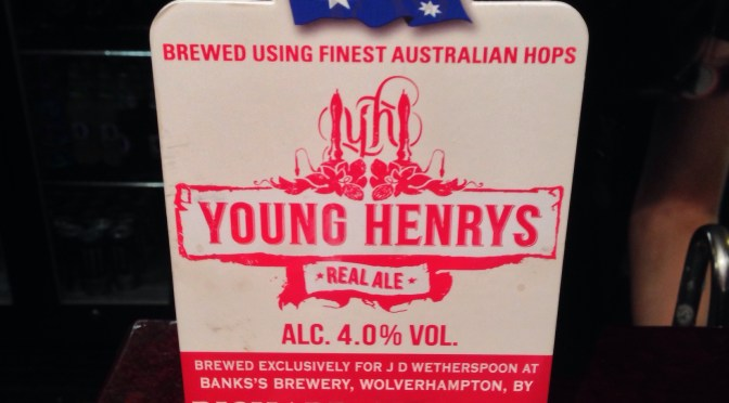 Young Henry's Ale – Young Henry's (Bank's) Brewery