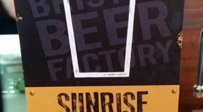 Sunrise – Bristol Beer Factory