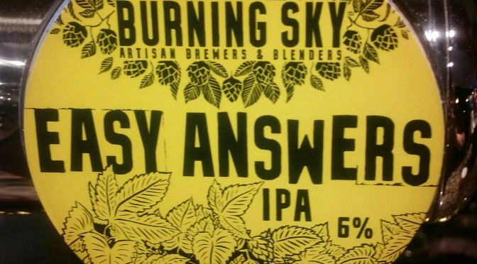 Easy Answers IPA – Burning Sky Brewery